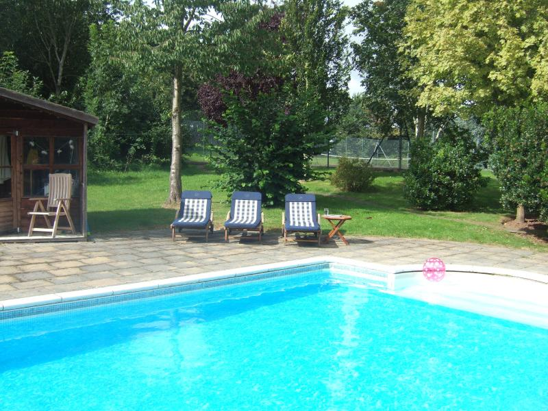 Outdoor heated swimming pool available from the end of May to early September.