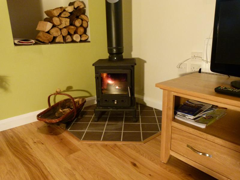 Snuggle up with our cosy Log Burner!