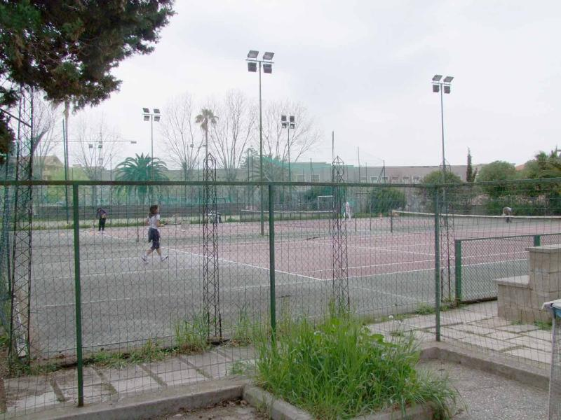 Tennis courts in the same park area