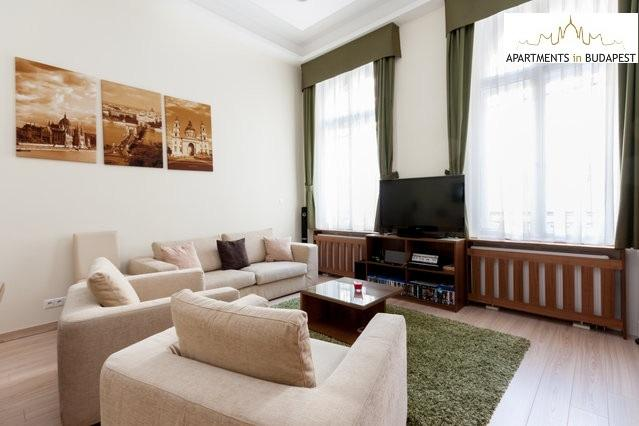 Spacious living room with 3D TV