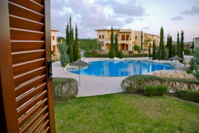Communal pool from bedroom