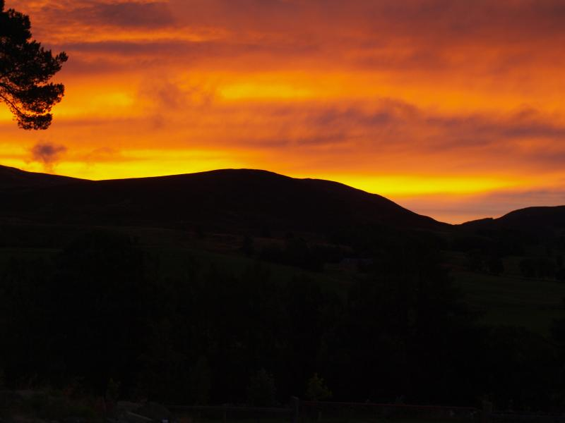 Sunrise from New Steading Cottage