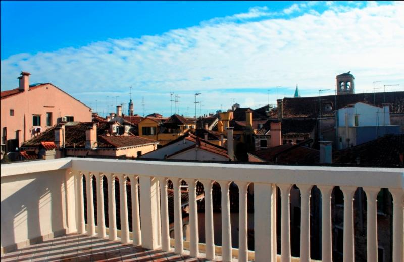 Terrace with stunning views  over the rooftops of Venice