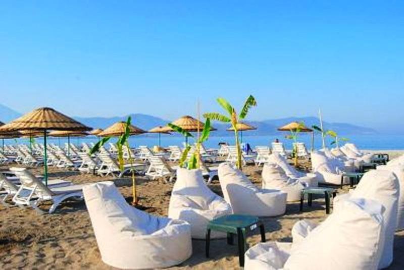 Private beach of Sunset Beach Club