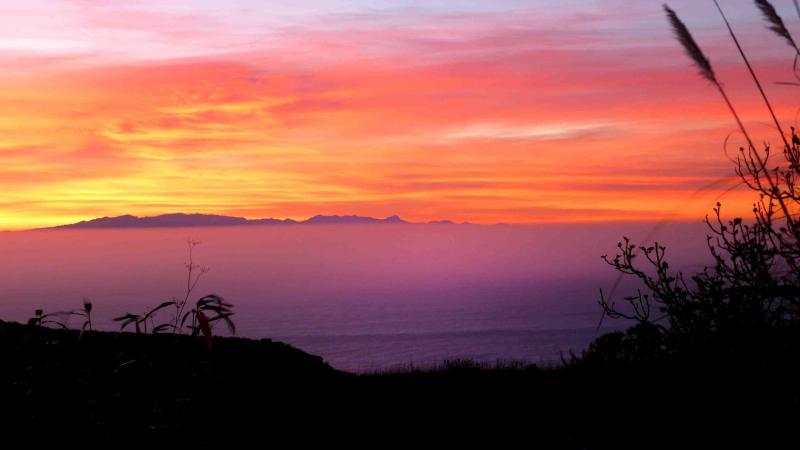 sunrise on the sun terrace...