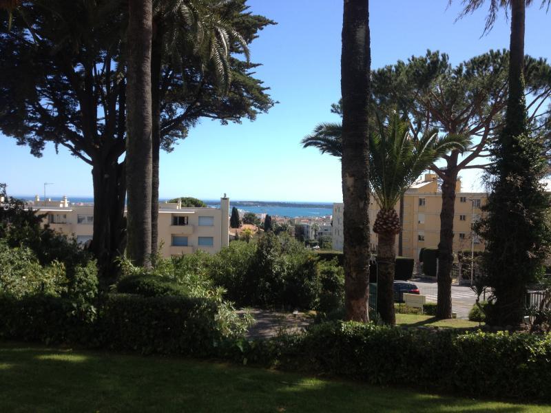Vue du jardin sur la rade de Cannes