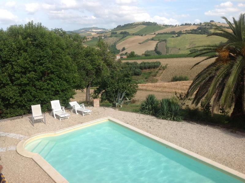 The pool and the countryside
