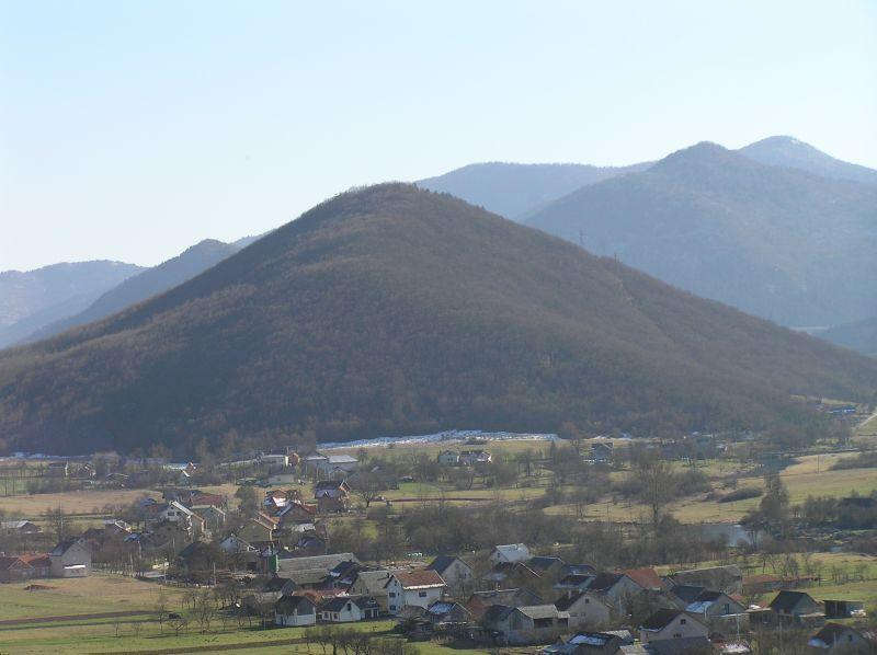 Prozorina hill (reason why village is called Prozor)
