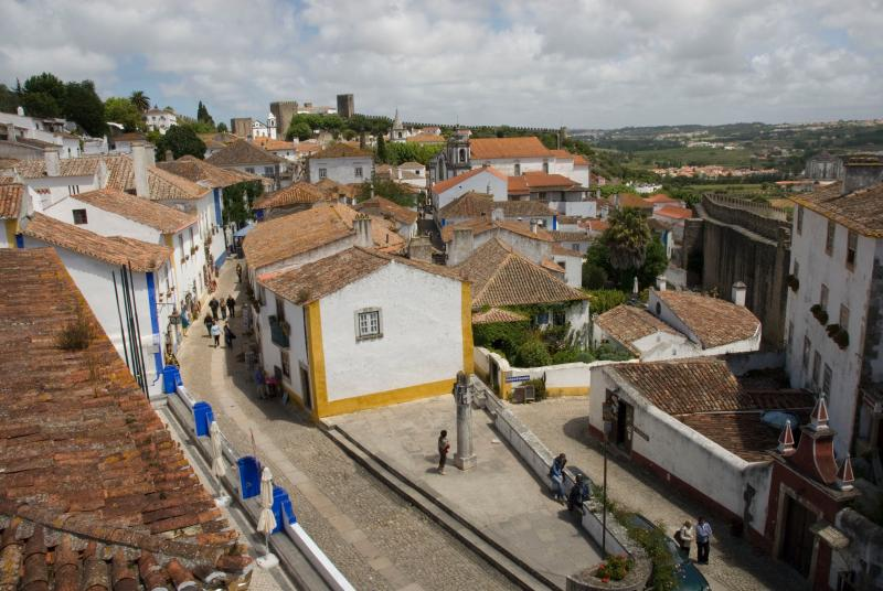 Historic walled town, Obidos. A great day out 20 minutes drive from Sao Martinho do Porto.