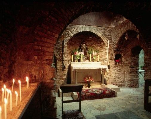 House of the Virgin Mary- a stone cottage turned chapel where it is said she lived out her last days