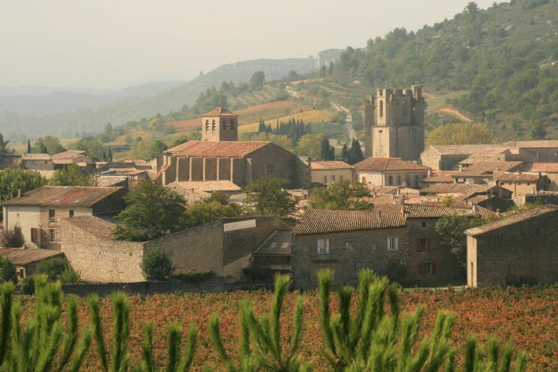 Lagrasse has restaurants, cafes, shops and galleries.  All you need is on the doorstep