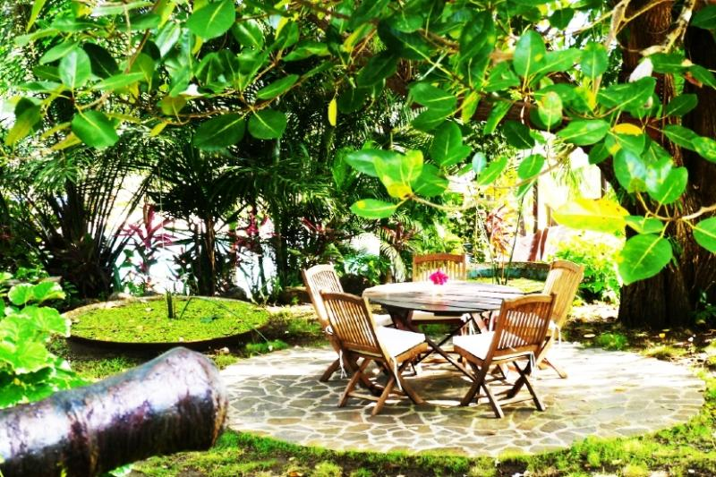 The Outside Sitting area, ideal for relaxing with its fresh breeze and amazing views