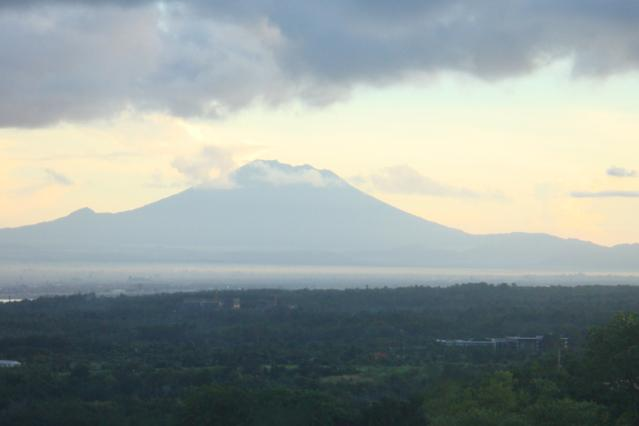 Mt. Agung as seen from the swimming pool