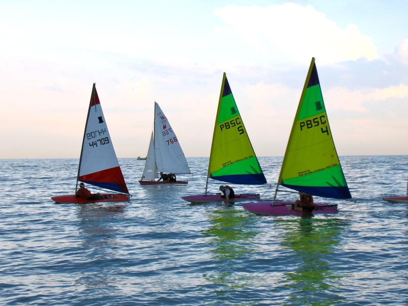 Dinghy sailing from the beach
