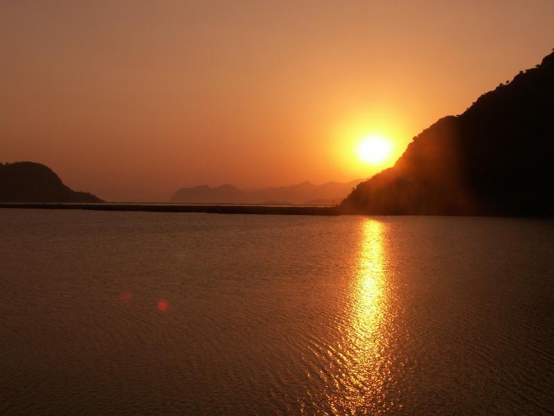 Sunset Over lake Sulungur