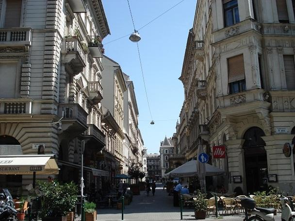 Hajos street with its top restaurants and cafés