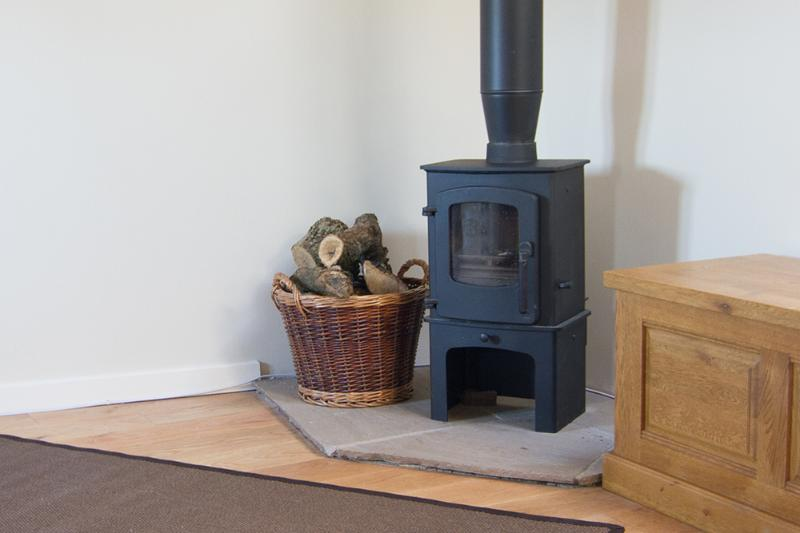 The lovely wood burner (logs supplied free of charge)