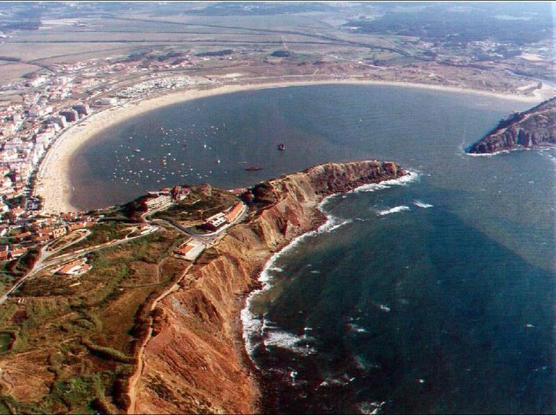 De baai vanuit de lucht