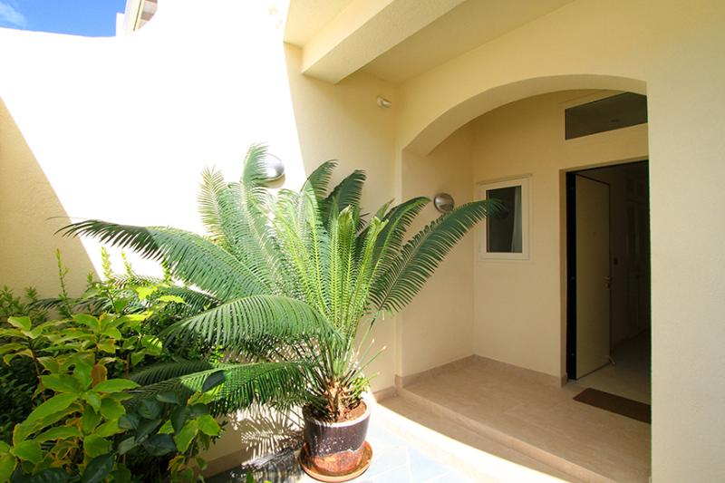 Frangipani Private Courtyard- allows a fantastic breeze without compromizing privacy!