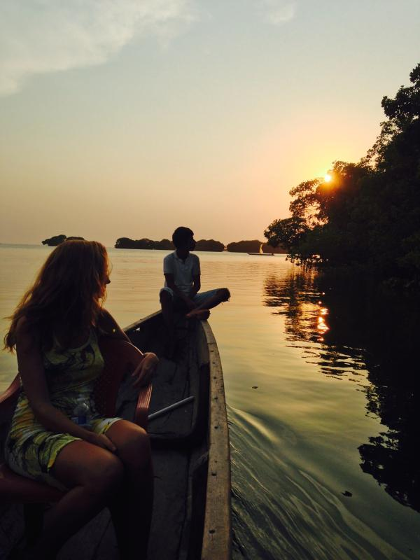 Canoe trip on the Cienaga Grande de Santa Marta, available just steps away from the house