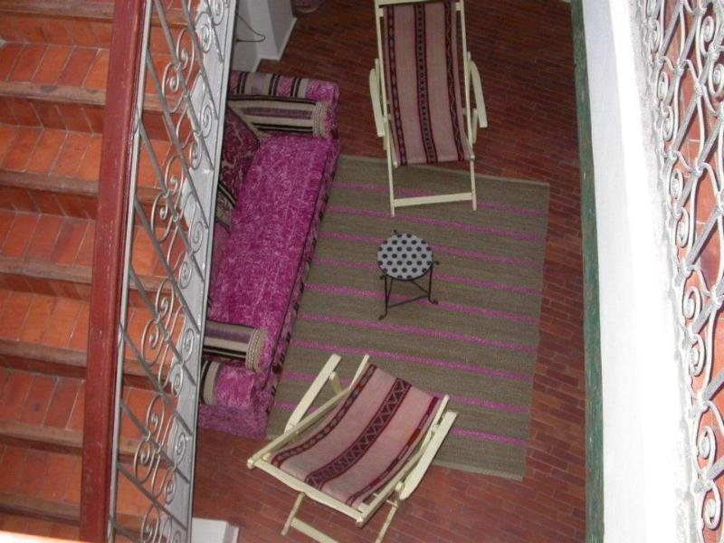 vista desde arriba del patio interior