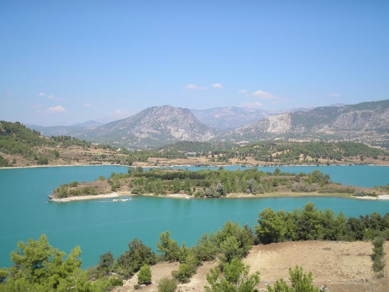 view of the green lakes