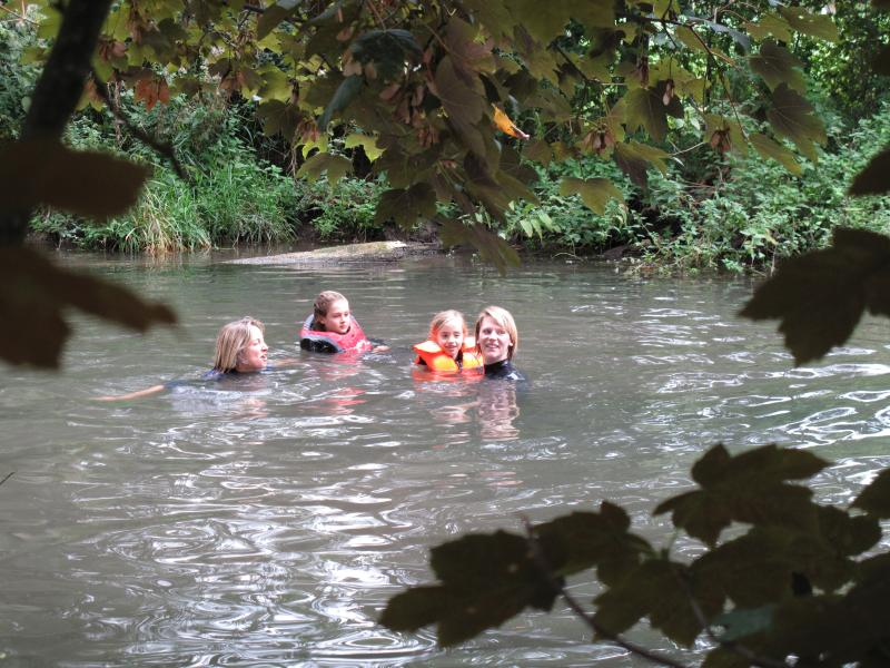 Swimming In our river
