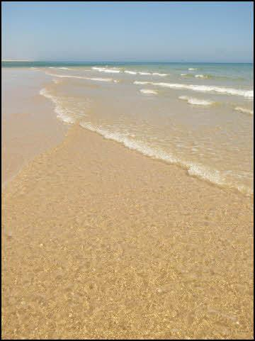 Crystal clear waters of Fuseta beach