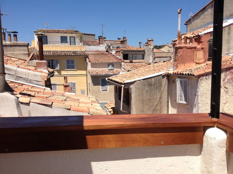 View from the terrace over the roofs