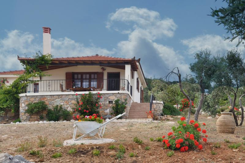 Exterior of the villa