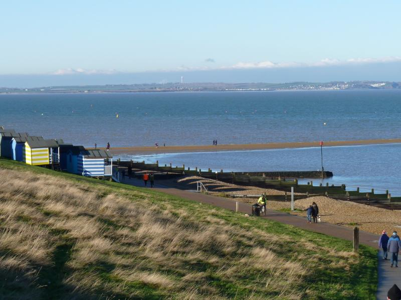 The promendade stretches between Whitstable harbour and Hampton pier: a lovely traffic free walk