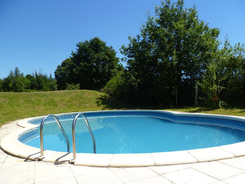 Swimming in the private pool (9m x 6m) - Luxury..... all to yourselves