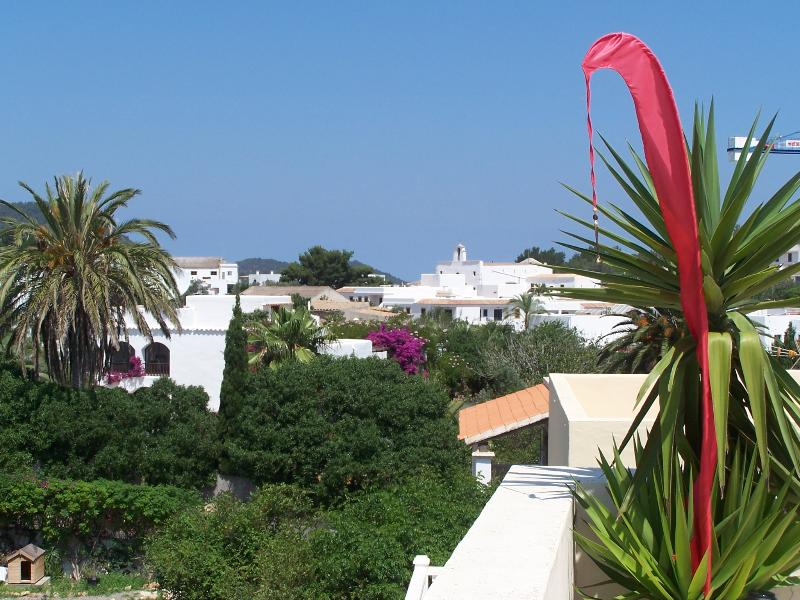 View to the village from the roof terrace