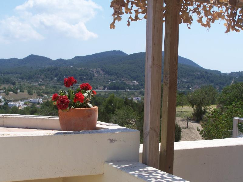 View from the roof to the rear valley