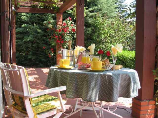 Enjoy breakfast on the patio