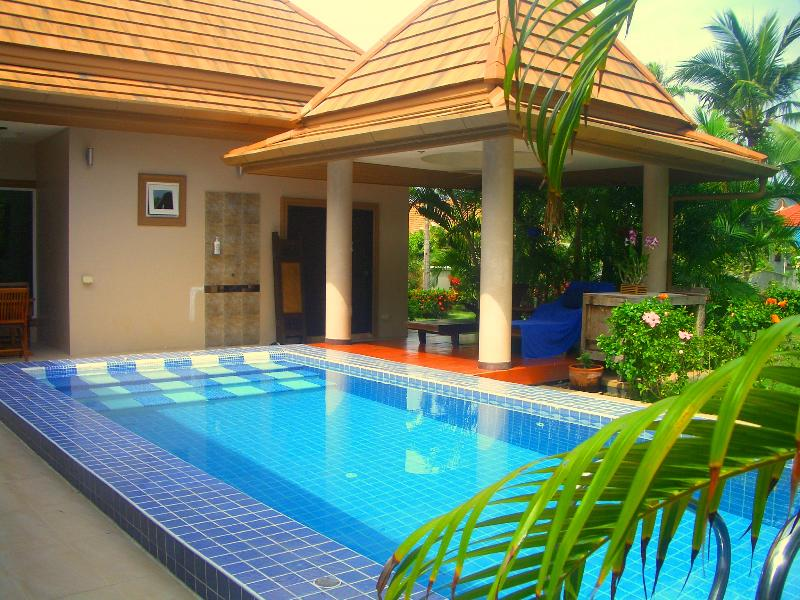 The beautiful Private Pool and shady Thai Style Sala