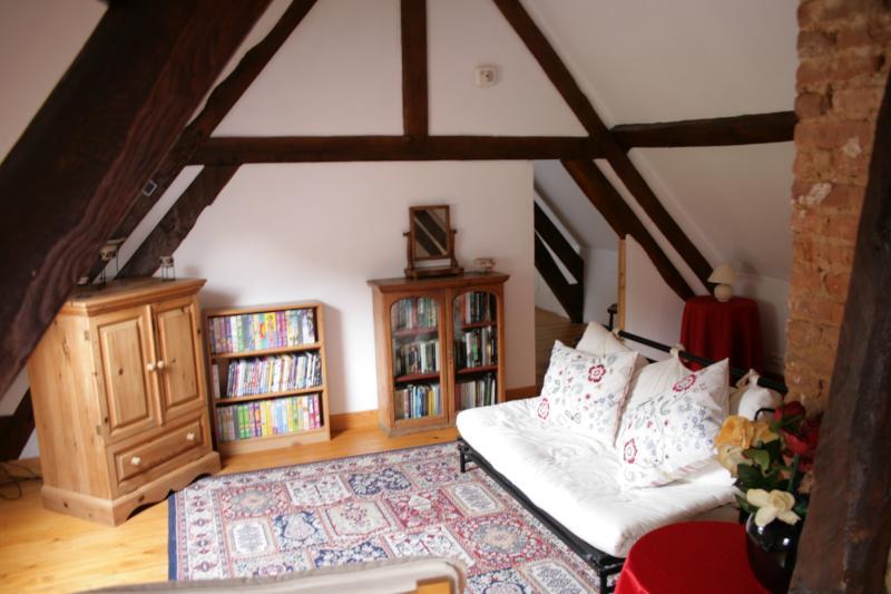 Upstairs bedroom sitting area