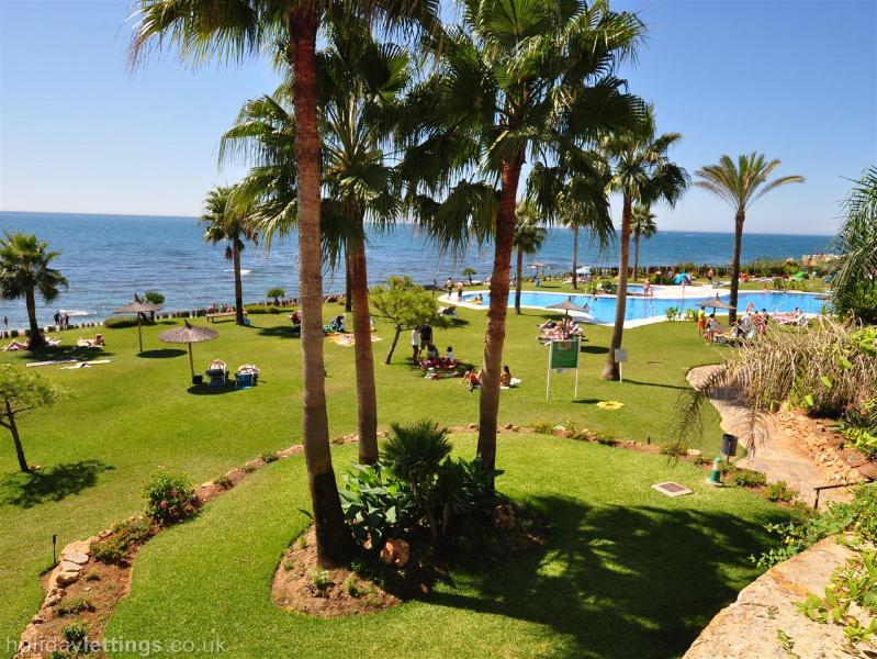 Main pool & beautiful communal gardens