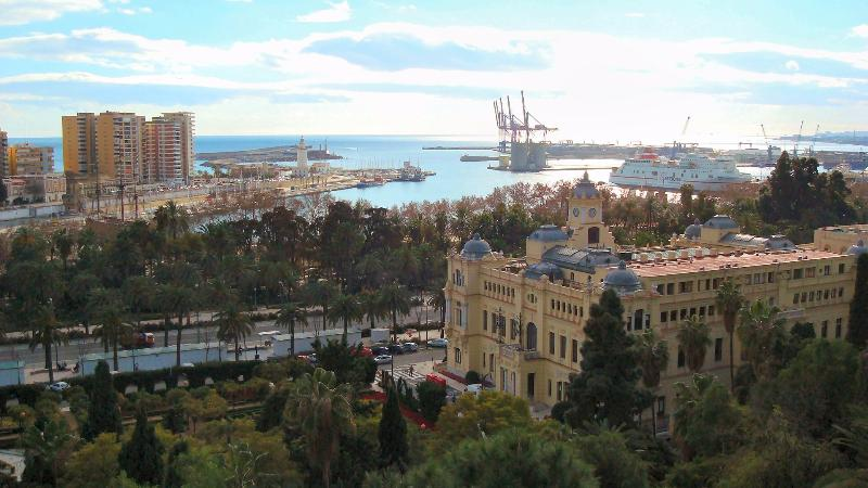 View over Malaga Port great city to visit