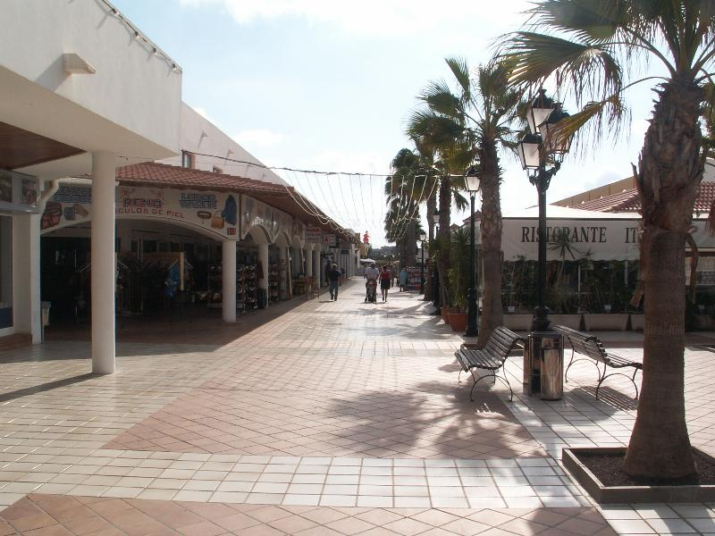 Resort centre within 10 mins walk, with shops, restaurants and bars