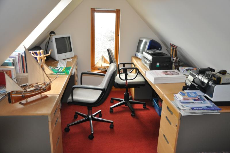 Study area in attic