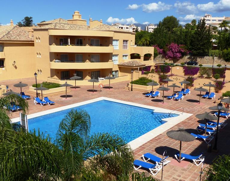 The main pool is adjacent to the apartment, with plenty of sunbeds for your use.