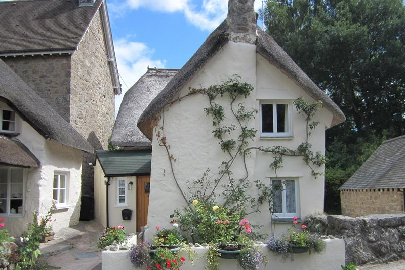 Front of Three Pound Cottage, Lustleigh