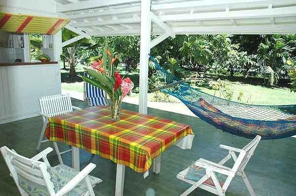 terrazza del bungalow pane frutta
