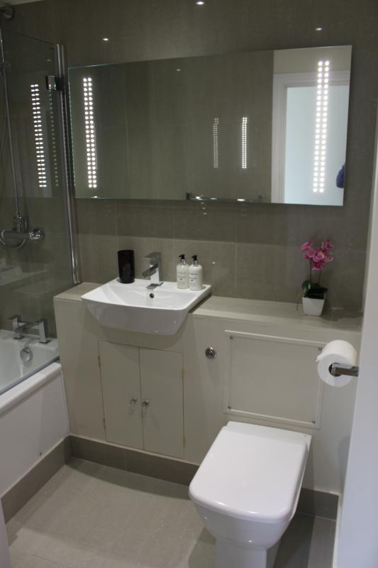 Family bathroom next to twin room