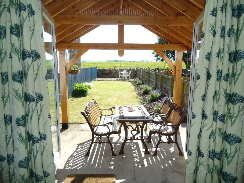 Eat in or out with long views over open countryside to the Cheviot Hills on the Scottish border