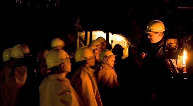 Guided tour in Falun Mine Experience a thrilling meeting with the history of Sweden in the majestic