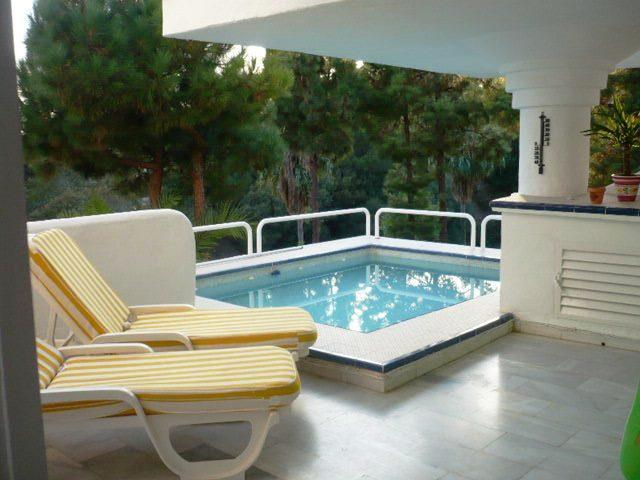 Luxuorious terrace with private pool