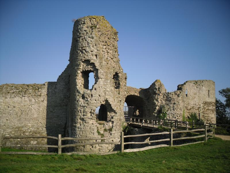 Just a short walk to Pevensey castle one of the oldest in England