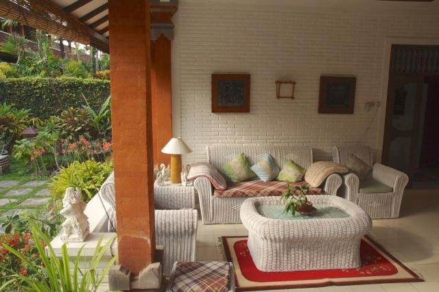 Welcoming traditional balinese outdoor area to relax and unwind